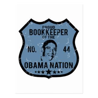 Bookkeeper Obama Nation Postcard