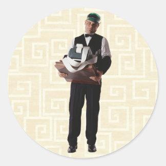 Bookkeeper Classic Round Sticker