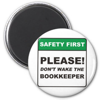 Bookkeeper / Wake 2 Inch Round Magnet