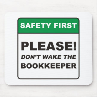 Bookkeeper / Wake Mouse Pad