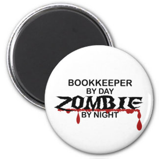 Bookkeeper Zombie 2 Inch Round Magnet