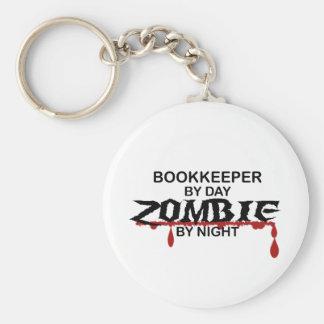 Bookkeeper Zombie Basic Round Button Keychain
