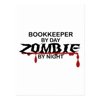 Bookkeeper Zombie Postcard