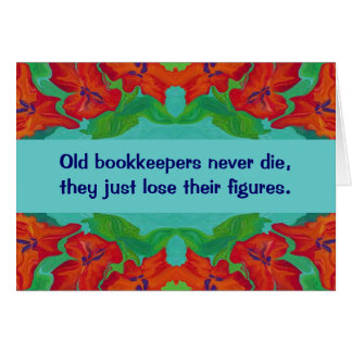 bookkeepers humor card