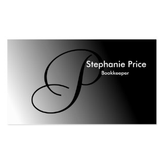 Bookkeeping & Accounting Business Card - Monogram