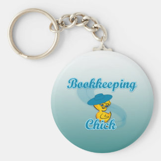 Bookkeeping Chick #3 Keychain