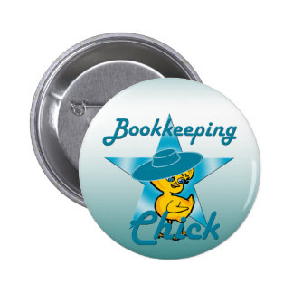 Bookkeeping Chick #7 Pinback Button