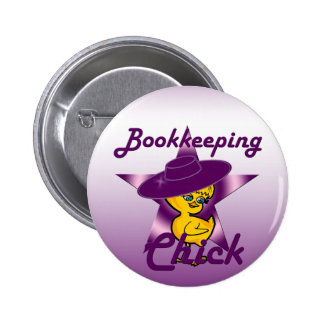 Bookkeeping Chick #9 Button