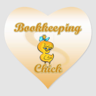 Bookkeeping Chick Heart Sticker