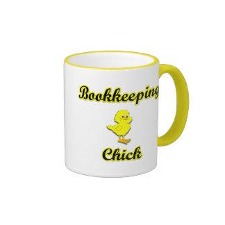 Bookkeeping Chick Ringer Mug