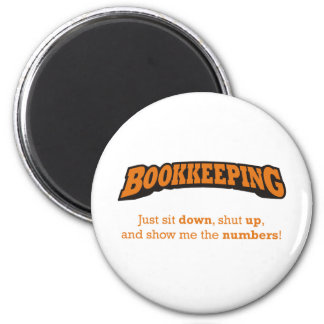 Bookkeeping-Numbers 2 Inch Round Magnet