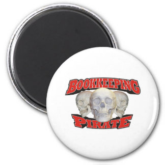Bookkeeping Pirate 2 Inch Round Magnet