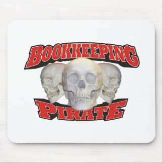 Bookkeeping Pirate Mousepads