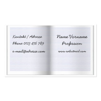 Booklet Business Card Templates