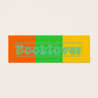 Booklover (are you a page-turner?) Bookmark Mini Business Card