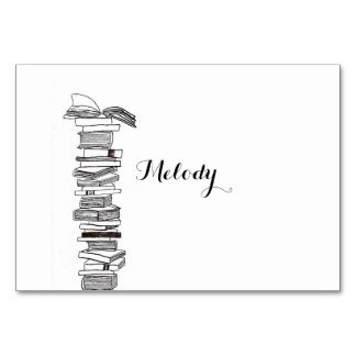 Booklover  Book Wedding Table / Place Card