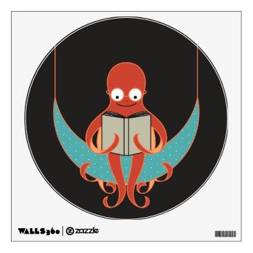 Art Themed Booklover Octopus Wall Decal