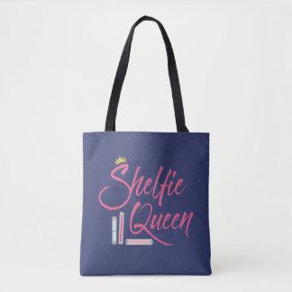 Booklover Shelfie Queen Bookish Tote Bag