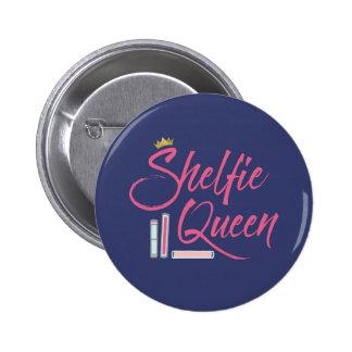 Booklover Shelfie Queen Button