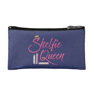Booklover Shelfie Queen Cosmetic Bag