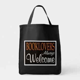 Booklovers always welcome sign bag
