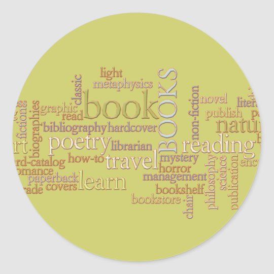 Booklovers Favorites Classic Round Sticker