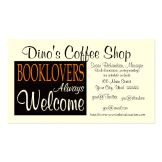 Booklovers Welcome Regular Business Card