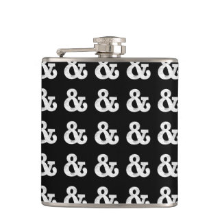 Bookman Old Style Bold White Letterpress Flask