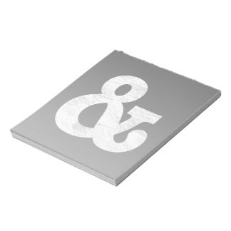 Bookman Old Style Bold White Letterpress Note Pad