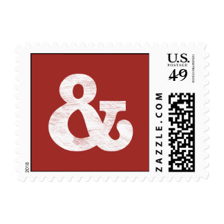 Bookman Old Style Bold White Letterpress Postage