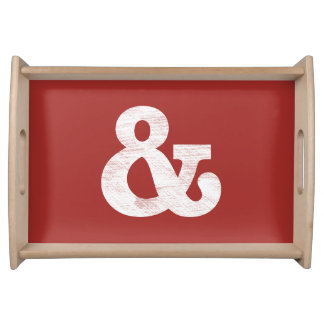 Bookman Old Style Bold White Letterpress Serving Tray