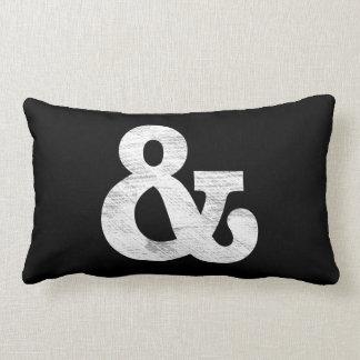 Bookman Old Style Bold White Letterpress Throw Pillow