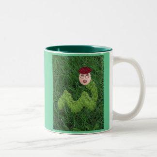 Bookman T. Worm Two-Tone Coffee Mug