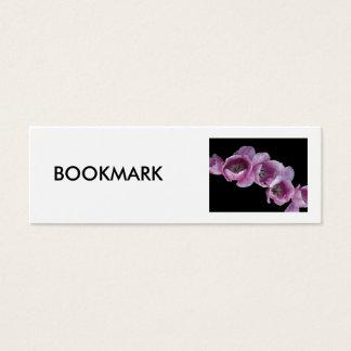 Bookmark, A Wave of Purple Tulips Mini Business Card