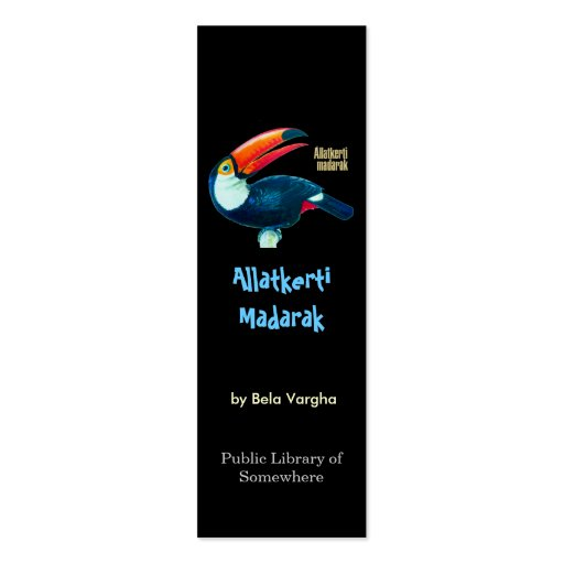 Bookmark - Allatkerti Madarak Business Card