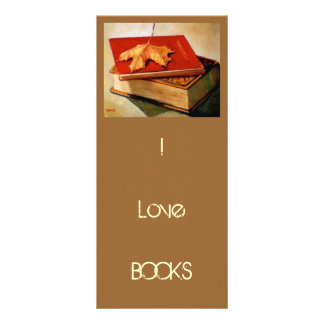 BOOKMARK: ART: BOOKS: Maple Leaves Rack Card Template