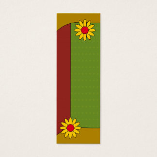 Bookmark - Autumn colors and flowers Mini Business Card