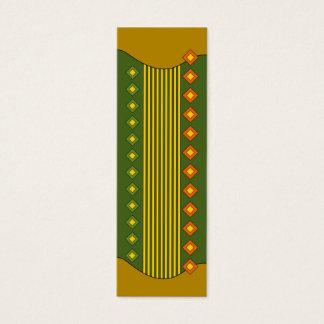 Bookmark - Autumn colors Mini Business Card