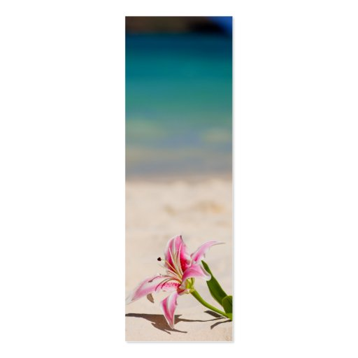 Bookmark Beach Lily Business Cards