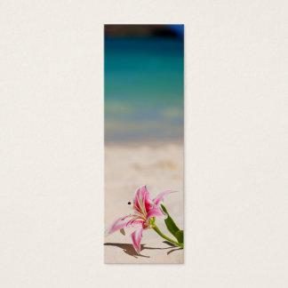 Bookmark Beach Lily Mini Business Card