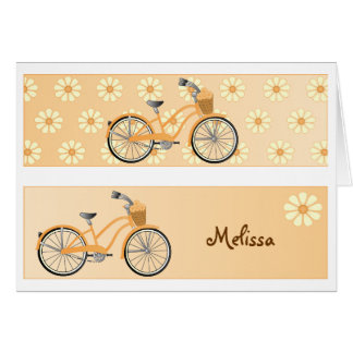 Bookmark Bicycle Greeting Card