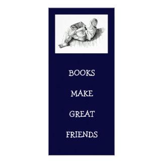 BOOKMARK: BOY READING: PENCIL ART RACK CARD