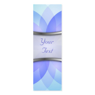 Bookmark Business Card abstract lotus flower
