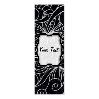 Bookmark Business Card Floral abstract background
