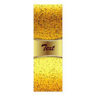 Bookmark Business Card Glitter Graphic Gold