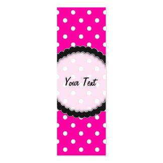 Bookmark Business Card Hot Pink Polka Dot