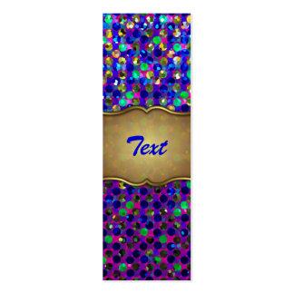 Bookmark Business Card Polka Dot Sparkley Jewels