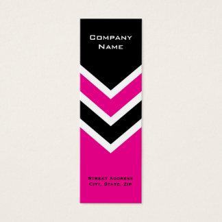 Bookmark Business Card Zig Zag Chevron Pattern