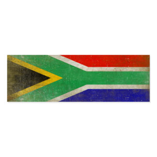 Bookmark Card with Cool Flag from South Africa Mini Business Card