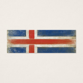 Bookmark Card with Distressed Flag from Iceland